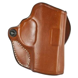 """DeSantis Mini Scabbard Belt Holster Fits 1911 3"""" Officer Right Hand Leather Tan"""