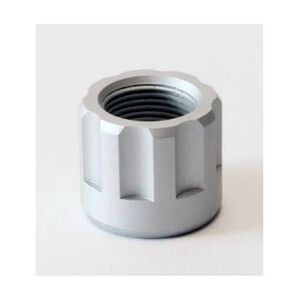 LongShot Ribbed Barrel Thread Protector 1/2-28 for Chiappa Little Badger Brushed Aluminum
