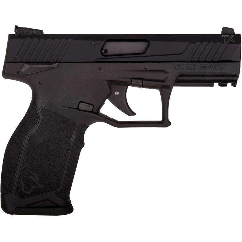 "Taurus TX22 .22 LR Semi Auto Pistol 4.1"" Threaded Barrel 16 Rounds Adjustable Rear Sight PTS Trigger Ergonomic Polymer Frame Black"