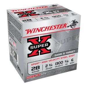 "Winchester Xpert HV 28 ga 2-3/4"" #6 Steel 5/8oz 25 Rnd Box"