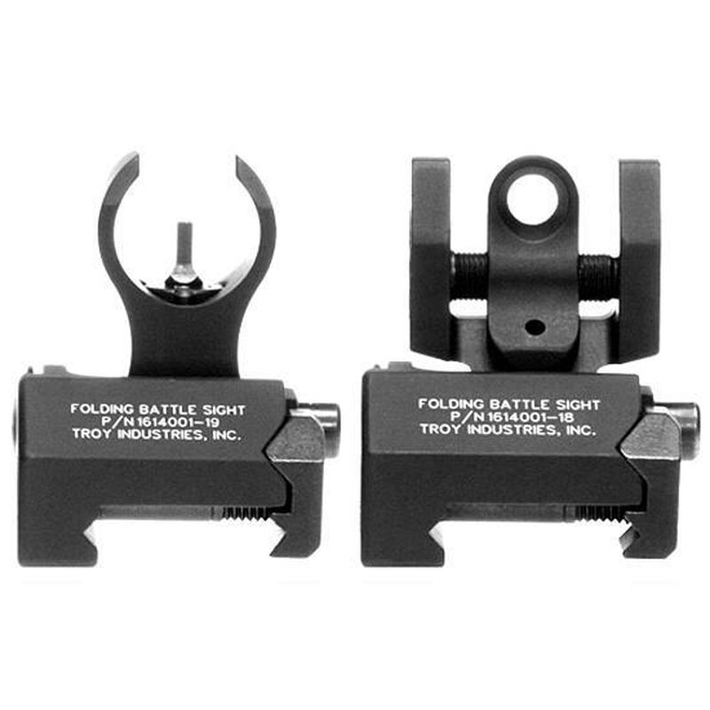 Troy Industries Micro H&K Front and Rear Folding Sights SSIGIARSMBT