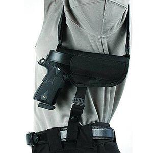 "BLACKHAWK! Horizontal Shoulder Holster 4.5"" to 5"" Barrel Large Frame Autos Right Hand Black Nylon Shirt Size M-XL 40HS05BK-MD"