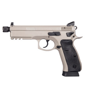 "CZ 75 SP-01 Tactical Urban Grey Suppressor-Ready Semi Auto Pistol 9mm Luger 4.6"" Threaded Barrel 18 Rounds Tritium Three Dot Sights Rubber Grips Urban Grey Finish"