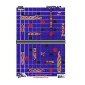 "Pro-Shot Splatter Shot Game Series Shipwreck 12"" x 18"" Heavy Tag Paper Target 8 Pack"