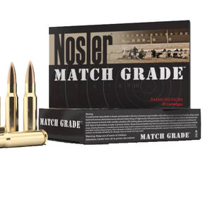 Nosler Match .338 Lapua Mag Ammunition 20 Rounds BTHP 300 Grains 43136