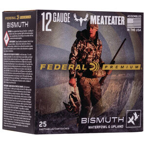 "Federal Bismuth Ammunition 12 Gauge 25 Round Box 3"" #4 Bismuth Shot 1-3/8 Ounce 1450 fps"