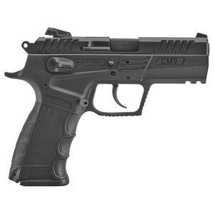 "SAR USA CM9 9mm Luger Semi-Auto Pistol 3.80"" Barrel 17 Rounds Adjustable Sights Polymer Frame Black Finish"