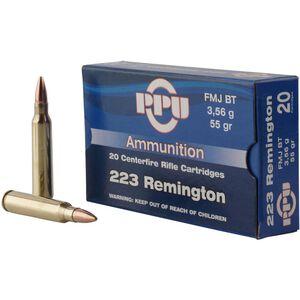 Prvi Partizan .223 Rem Ammunition 55 Grain FMJBT Bullet 3240 fps
