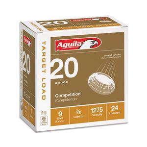 "Aguila Target Load 20 Gauge Shotshells 25 Rounds 2 3/4"" 7/8 oz #9 Shot 1CHB2039"