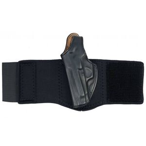 "DeSantis Die Hard Ankle Holster S&W J Frame 2"" Right Hand Black Leather 014PC02Z0"