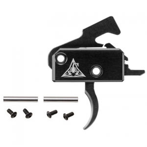 Rise Armament RA-140 Super Sporting Trigger with Anti-Walk Pins One Piece Drop In Design Curved Trigger Matte Black Finish