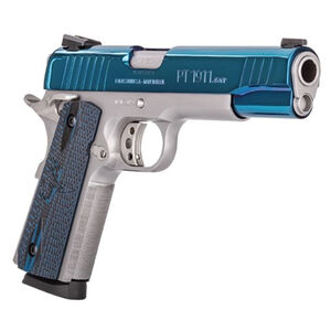 "Taurus 1911 Single Action Semi Automatic Pistol .45 ACP 5"" Barrel 8 Round Magazine Novak Style Sights VZ Grips High Polish Blue PVD Slide/Stainless Steel Finish"