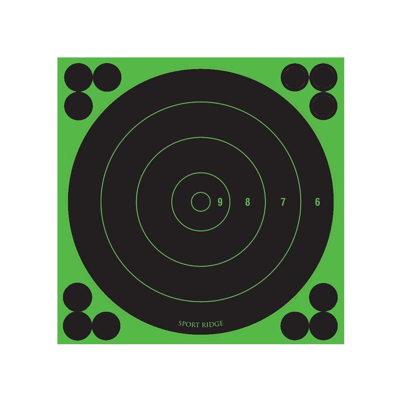 "Sport Ridge Adhesive Reactive Target 5.5""Bullseye Black w/Green Accents 60 PK"