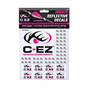 C-EZ Products Reflective Arrow and Treestand Wraps Vinyl 29 Decals per package Black and Pink