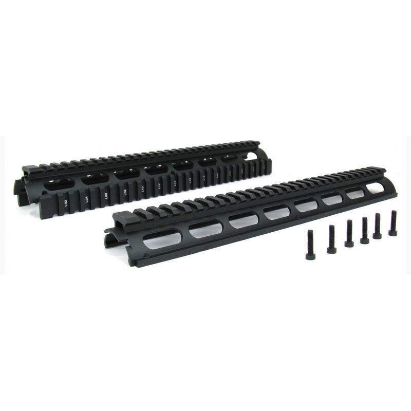 "TacFire AR-15 Two Piece Drop-In Quad Rail Handguard 12"" Rifle Length Aluminum Black HG01-12"