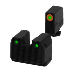 Rival Arms Tritium Handgun Night Sights for GLOCK 17/19/22/23/31/32 Orange Front Ring CNC Machined Stainless Steel Billet Matte Black Finish