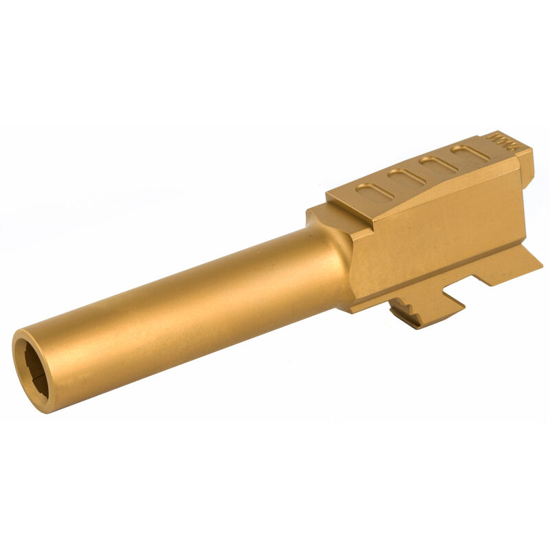 Grey Ghost Precision GLOCK 43 Match Grade Drop In Replacement Barrel 9mm Luger Titanium Nitride Finish