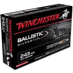 Winchester Supreme .243 Win 55 Grain Silvertip 20 Round Box