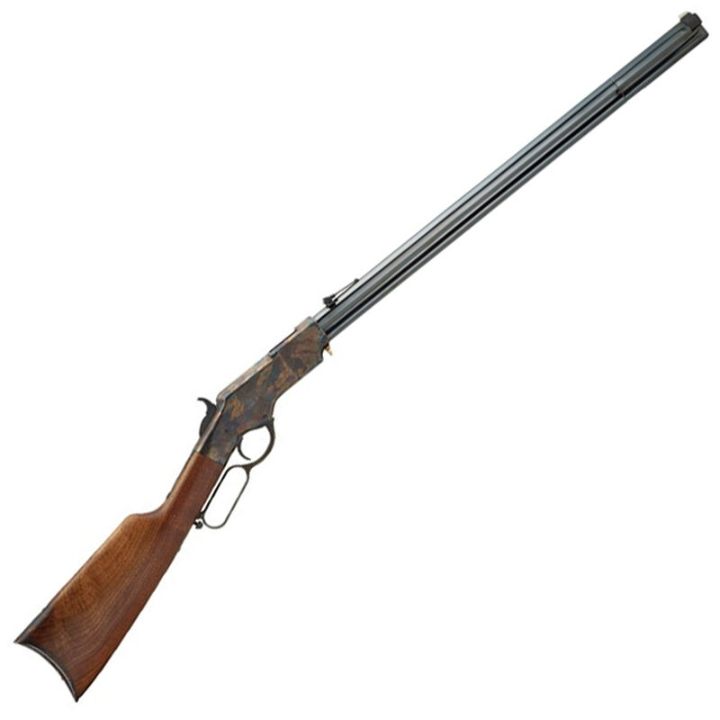 Henry Original Iron Frame Lever Action Rifle 44 40 Win 24 Octagonal Barrel 13 Rounds Case Hardened Receiver Walnut Stock Blued H011IF