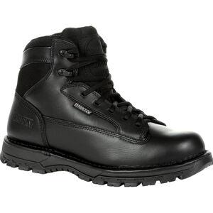 """Rocky International Portland 6"""" Side Zip Waterproof Public Service Boot Size 10 Black"""