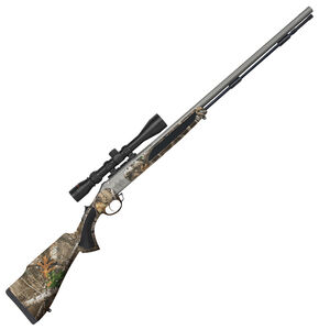 "Traditions Vortek StrikerFire Break Action Black Powder .50 Cal 28"" Barrel 3-9x40 Riflescope RealTree Edge and Premium Cerakoat Finish"