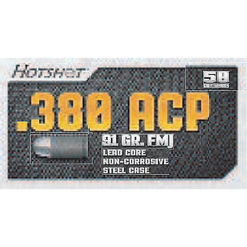Century Arms .380 ACP Hotshot Ammunition 50 Rounds, FMJ, 91 Grains
