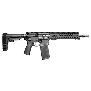 "POF USA Minuteman AR-15 5.56 NATO Semi Auto Pistol 10.5"" Barrel 30 Rounds DI System 8.5"" M-LOK Free Float Rail Collapsible Stock Matte Black"