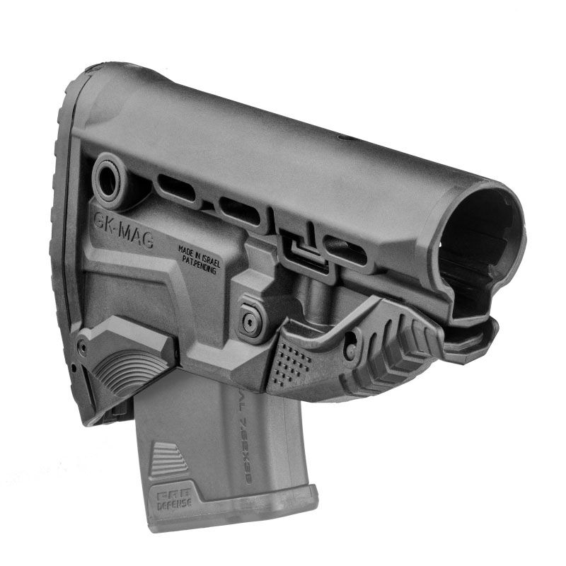 FAB Defense AK-47 Survival Buttstock with Built In Magazine Carrier Polymer Black
