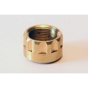 """LongShot Ribbed Thread Protector 1/2""""-28 for Hi-Point 3895TS & 995TS w/ Threaded Muzzle Polished Brass"""