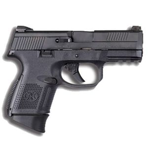 """FN FNS-9 Compact Semi Auto Pistol 9mm Luger 3.6"""" Barrel 17 Rounds Manual Safety Night Sights Polymer Frame Black Finish 66772"""