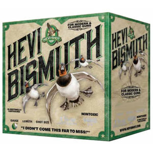 "Hevi-Shot Hevi Bismuth Waterfowl Ammunition 12 Gauge 25 Rounds 3"" #6 1-3/8 oz Hevi-Bismuth Shot 1450 fps"