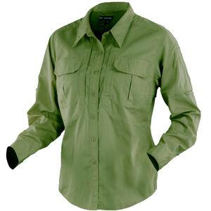 5.11 Tactical Women's Long Sleeve Taclite Shirt Polyester Cotton Large Black 62070
