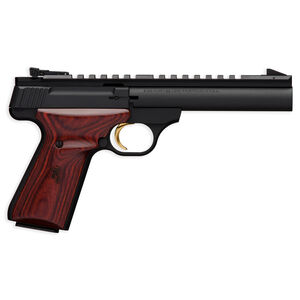 "Browning Buck Mark Field Target Semi Auto Pistol .22 LR 5.5"" Barrel 10 Rounds Adjustable Sights Laminate Cocobolo Grips Matte Black 051528490"