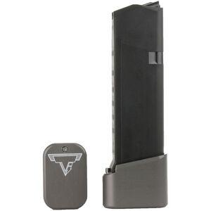 Taran Tactical Innovations +4/+5 GLOCK 19/23 Firepower Base Pad Kit Titanium Gray