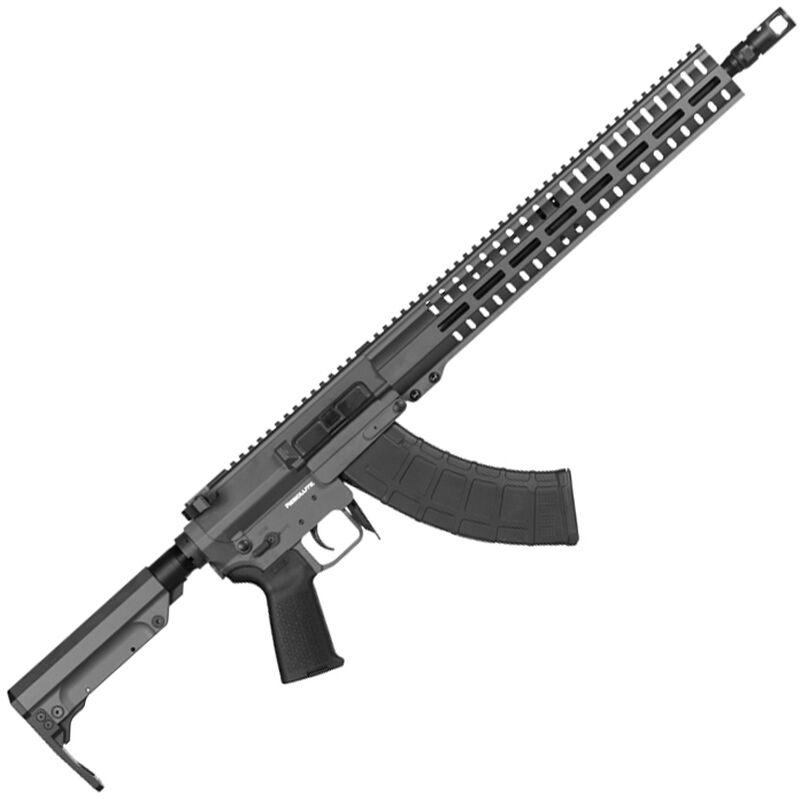 "CMMG Resolute 300 Mk47 7.62x39mm AR-15 Style Semi Auto Rifle 16"" Barrel 30 Round AK-47 Magazine RML15 M-LOK Handguard RipStock Collapsible Stock Sniper Grey Finish"