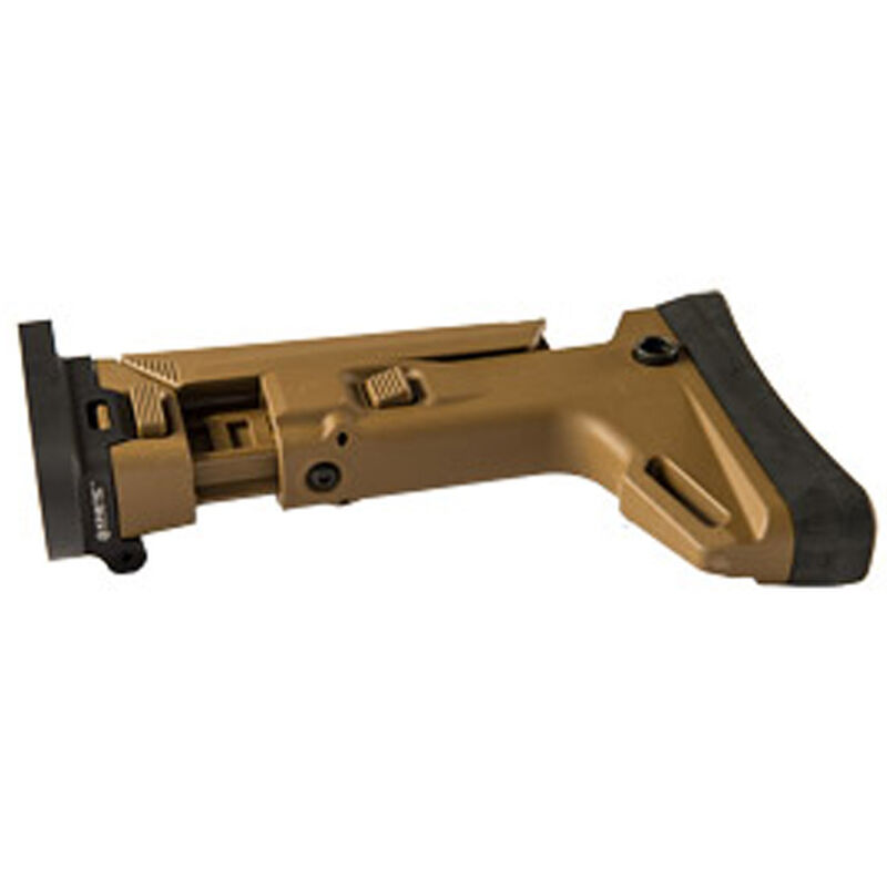Kinetic Development Group SCAR Adaptable Stock Kit Side Folding 7 Position Collapsible Magpul Brown Finish SCP5-110