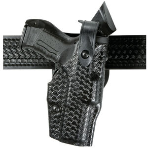 Safariland 6360 GLOCK 19 23 ALS SLS Mid Ride Level III Retention Duty Holster Right Hand STX Basketweave Black 6360-283-481