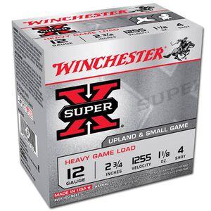 """Winchester Super-X 12 Ga 2.75"""" #4 Lead 1.125oz 250 rds"""