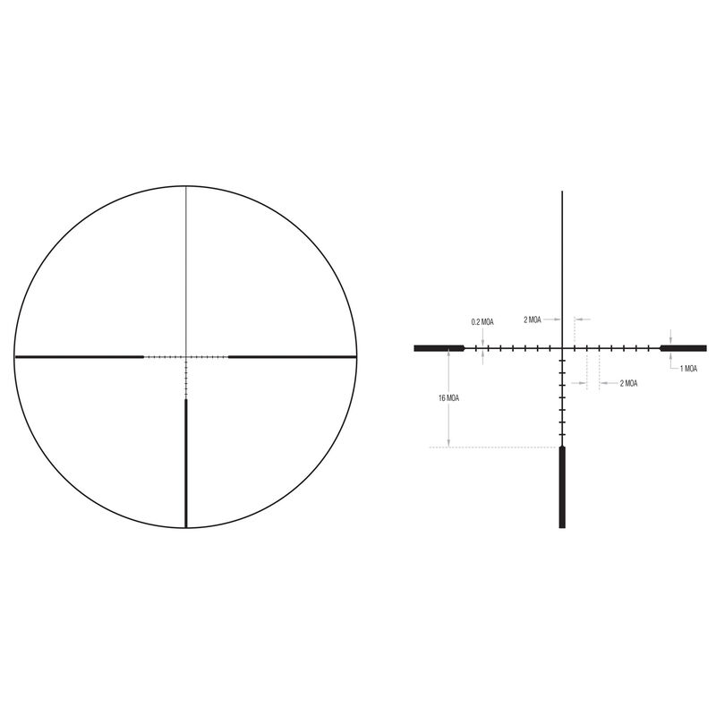 Trijicon Ascent 3-12x40 Riflescope With BDC Target Holds Reticle MOA Adjustment 30mm Tube Black