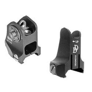 Daniel Defense Rail Mount Fixed Front/Rear Sight Combo Aluminum Black 19-088-09116