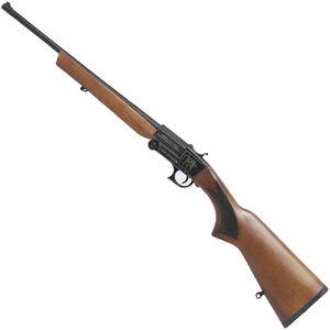 "Iver Johnson IJ700 Youth Single Shot Break Action Shotgun .410 Bore 18.5"" Barrel 1 Round 3"" Chambers Walnut Stock Black Finish"