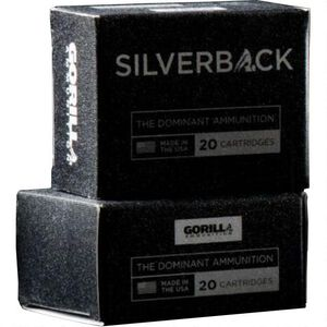 Gorilla Silverback .380 ACP SCHP 95gr 850 fps 20 Rounds