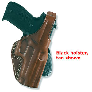 "Galco PLE Paddle Holster 1911s 4"" Barrels Right Hand Leather Black PLE266B"