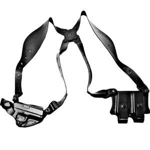 DeSantis Gunhide New York Undercover GLOCK 17, 19, 22, 23, 31, 32, 36 Shoulder Holster Right Hand Leather Black 11DBAB2J0
