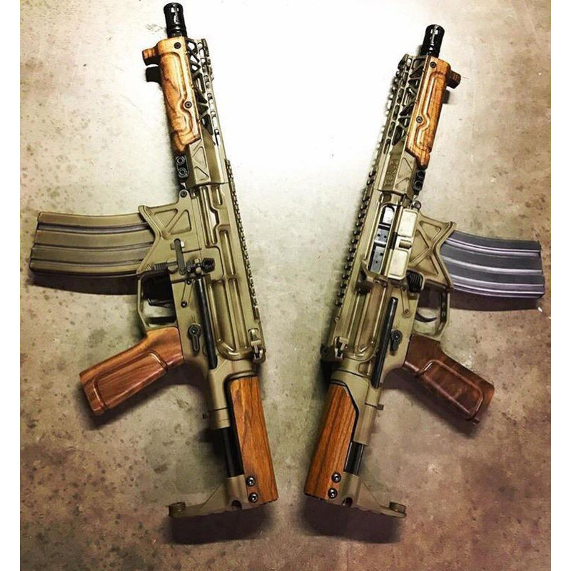 Battle Arms Development 3-Piece Wood Furniture Kit BAD-CSS Compact Stock System Lower French Walnut