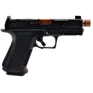 """Shadow Systems MR920 Elite 9mm Luger Compact Semi Automatic Pistol 4.5"""" Threaded Barrel 15 Rounds Tritium Night Sights Optic Cut Polymer Frame Bronze/Black Finish"""