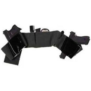 Galco Underwraps Belly Band Holster Large Elastic/Leather Black UWBKLG