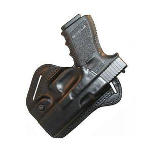 BLACKHAWK! CQC Check-Six Belt Holster For GLOCK 26/27/33 Right Hand Leather Black 420704BK-R