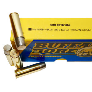 Buffalo Bore .500 Auto Max Ammunition 20 Rounds HC Lead 440 Grains