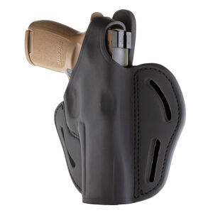 1791 Gunleather BHX-5 Dual Position OWB Thumb Break Belt Holster Large Frame Full Size Semi Auto Models Right Hand Draw Leather Black